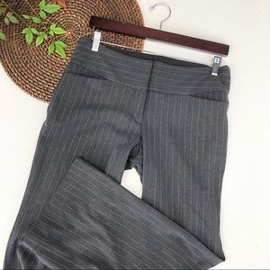 Express Pants Gray Pinstripe Bootcut Career 8S